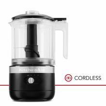 See Details - Cordless 5 Cup Food Chopper - Black Matte