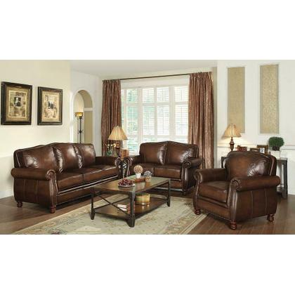 See Details - Montbrook Traditional Hand Rubbed Brown Sofa