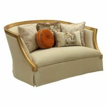 ACME Daesha Loveseat w/5 Pillows - 50836 - Fabric & Antique Gold