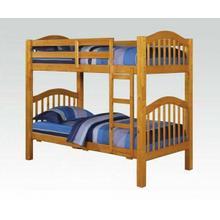 ACME Heartland Twin/Twin Bunk Bed - 02359_KIT - Honey Oak