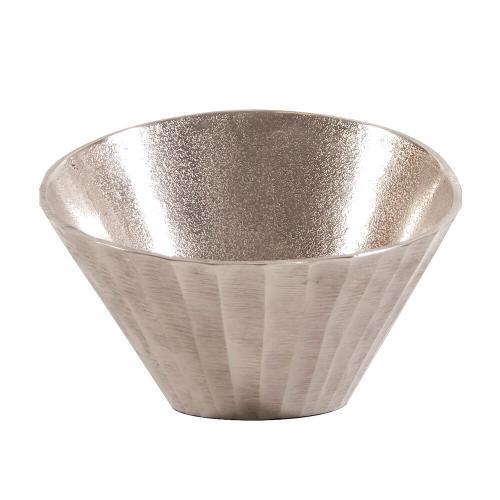 Howard Elliott - Silver Chiseled Metal Bowl