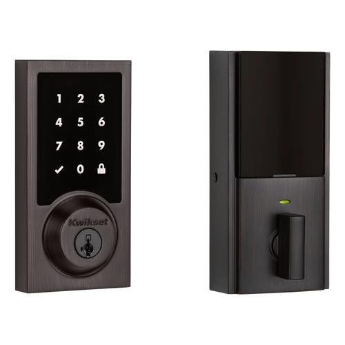 Kwikset - 916 Smartcode Contemporary Electronic Deadbolt with Z-Wave Technology - Venetian Bronze