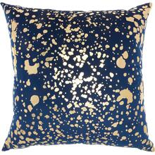 "Luminescence Qy168 Navy Gold 18"" X 18"" Throw Pillow"