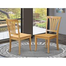 Avon Dining Room Chair Wood Seat - Oak Finish