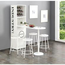 WHITE COUNTER TABLE W/CABINET