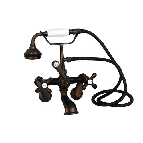 """Fillmore 60"""" Acrylic Slipper Tub Kit in White - Oil Rubbed Bronze Accessories"""