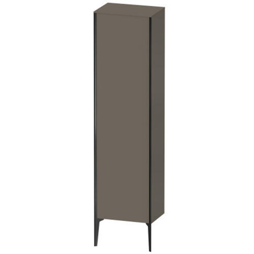 Tall Cabinet Floorstanding, Flannel Gray Satin Matte (lacquer)