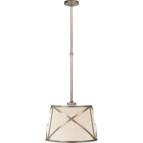 Visual Comfort - E. F. Chapman Grosvenor 2 Light 15 inch Antique Nickel Hanging Shade Ceiling Light