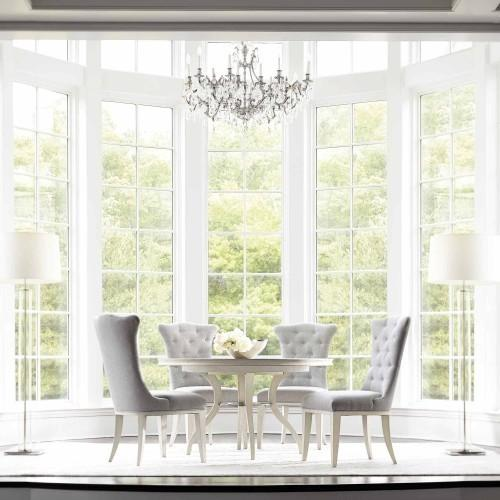 Allure Round Dining Table in Manor White (399)