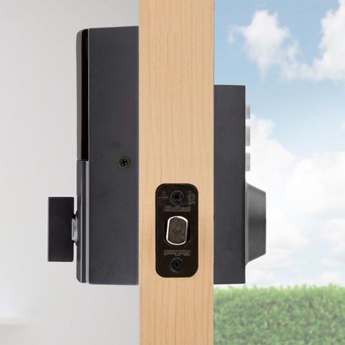 Kwikset - 914 SmartCode Contemporary Electronic Deadbolt with Z-Wave Technology - Matte Black