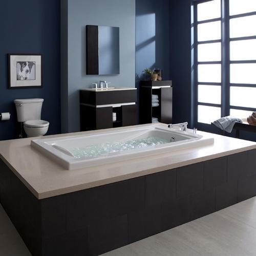 Green Tea 72x36 inch EcoSilent Combo Massage Tub  American Standard - White