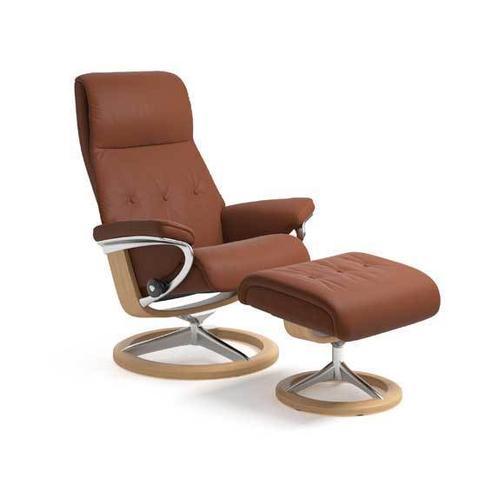Stressless By Ekornes - Stressless Sky Medium Signature Base Chair and Ottoman