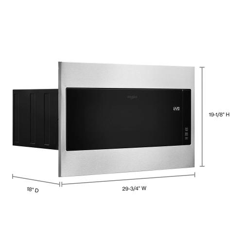 "1.1 cu. ft. Built-In Microwave with Standard Trim Kit - 19-1/8"" Height"