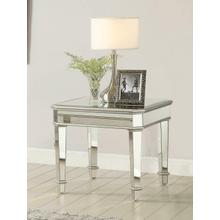 Contemporary Silver End Table