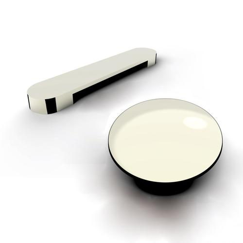 """Yarborough 61"""" Round Acrylic Tub with Integral Drain and Overflow - Polished Nickel Drain and Overflow"""