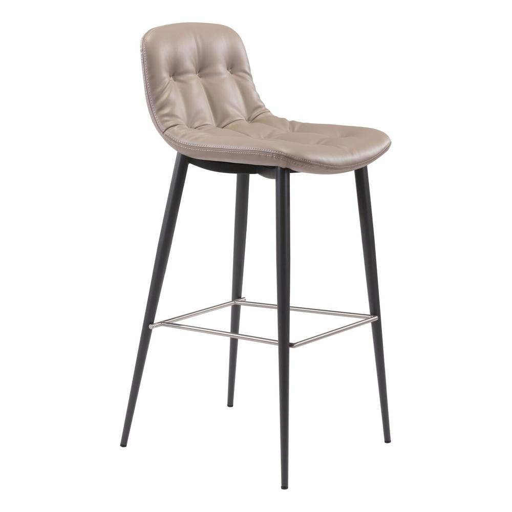 See Details - Tangiers Bar Chair Taupe