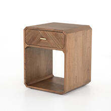 Caspian Nightstand-natural Mindi