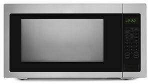 2.2 Cu. Ft. Countertop Microwave with Add :30 Seconds Option - Black-on-Stainless