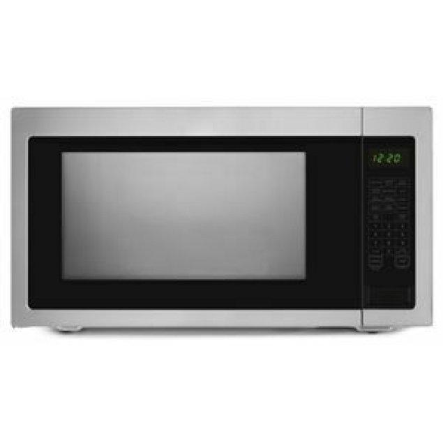 Amana 2.2 Cu. Ft. Countertop Microwave with Add :30 Seconds Option - Black-on-Stainless