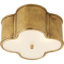View Product - Alexa Hampton Basil 2 Light 11 inch Natural Brass Flush Mount Ceiling Light