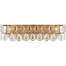 AERIN Liscia 4 Light 23 inch Gild Vanity Sconce Wall Light