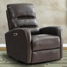 View Product - RINGO - FLORENCE BROWN Power Swivel Glider Recliner