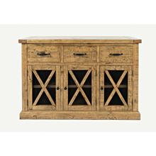 View Product - Telluride 3 Drawer Sideboard