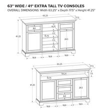 Howard Miller Extra Tall Custom TV Console XT63E