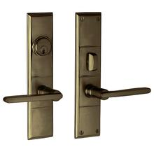 Satin Brass and Black Houston Entrance Trim