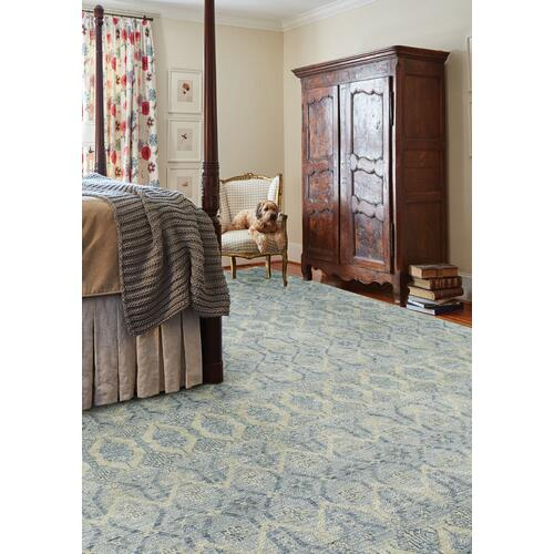 Siam-Temple Lt. Blue Hand Knotted Rugs