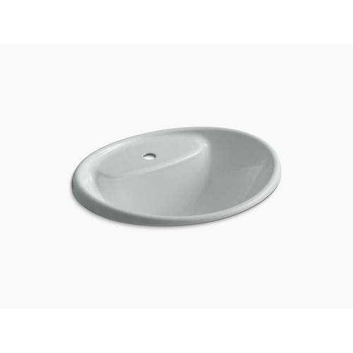 Ice Grey Drop-in Sink With Single Faucet Hole