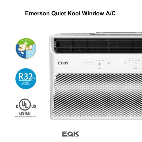 Emerson Quiet Kool - Emerson Quiet Kool Electronic Window Air Conditioner, 5,000 Btu 115V, With LED display and Remote Control, EBRC5RD1H