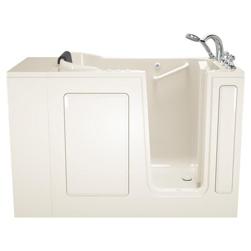 Gelcoat Premium Series 28x48-inch Walk-in Bathtub  Combo Massage Tub  American Standard - Linen