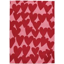 Sweet Treats-Hearts Dark Red Machine Tufted Rugs