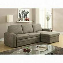 ACME Derwyn Sectional Sofa - 51645 - Light Brown Linen