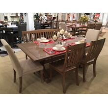 "Carlyle Crossing 78"" Dining 4pc With Bench"