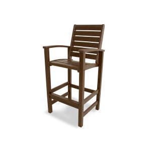 Polywood Furnishings - Signature Bar Chair in Mahogany