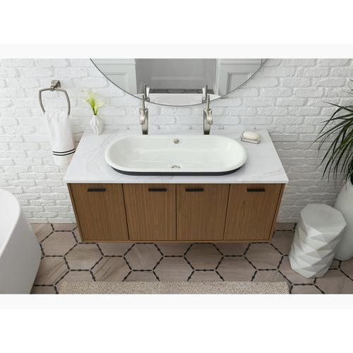 Black Plum Drop-in/undermount Bathroom Sink