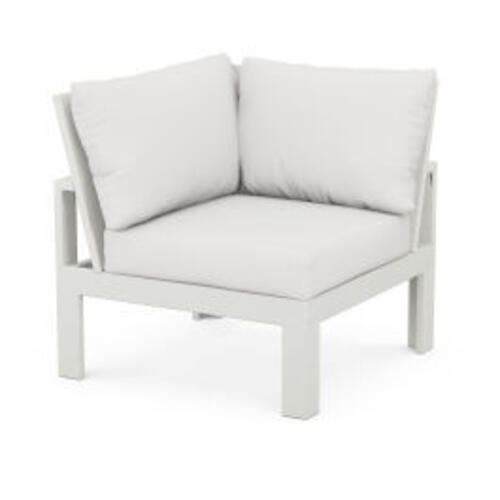 Modular Corner Chair in Vintage White / Natural Linen