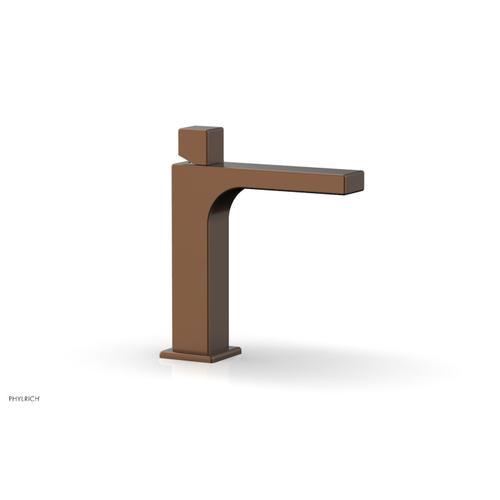 MIX Single Hole Lavatory Faucet, Cube Handle 290-08 - Antique Copper