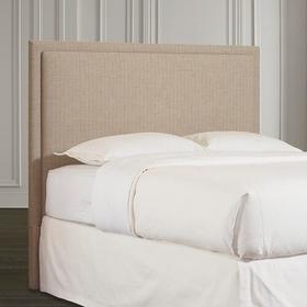 Custom Uph Beds Barcelona Bonnet King Headboard, Footboard None, Insert Type Tufted