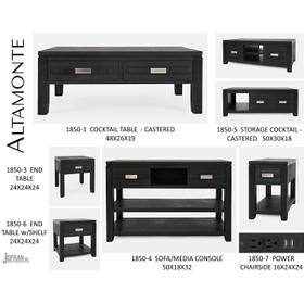 Altamonte Cocktail Table - Dark Charcoal