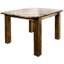 Homestead Collection 4 Post Dining Table w Leaves, Stain and Lacquer Finish