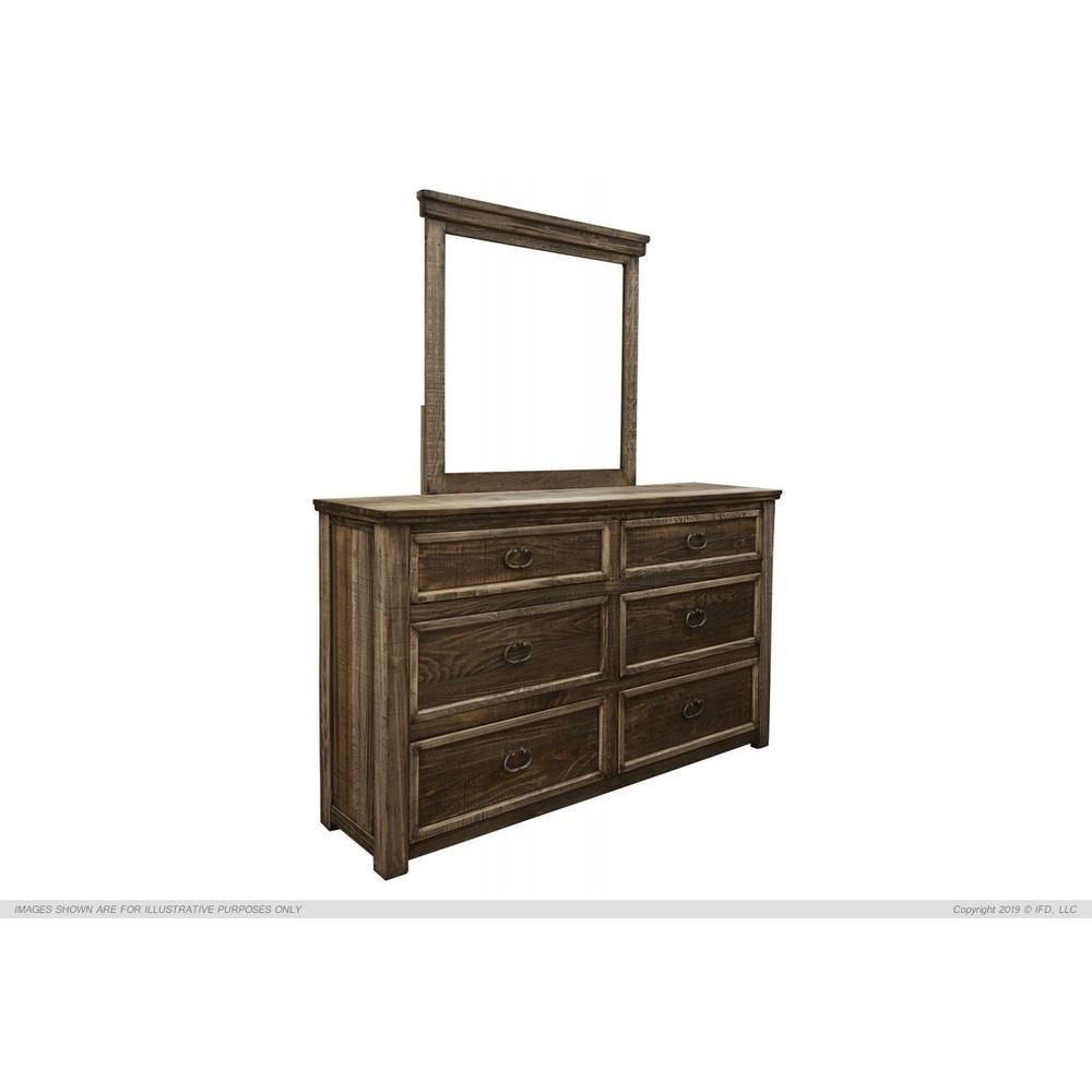 6 Drawer, Dresser, Pine Wood