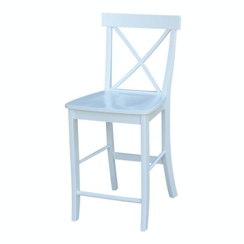 X-Back Stool in Pure White