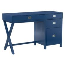 Peggy Side Storage Desk Navy
