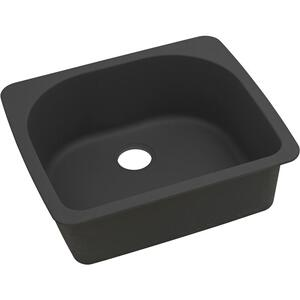 "Elkay Quartz Classic 25"" x 22"" x 8-1/2"", Single Bowl Drop-in Sink, Black Product Image"