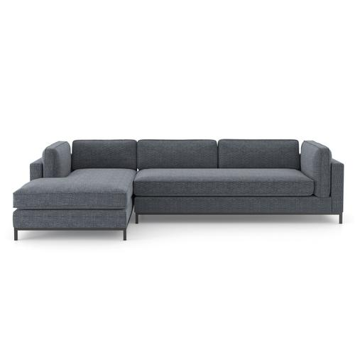 Left Chaise Configuration Cypress Navy Cover Grammercy 2-piece Chaise Sectional