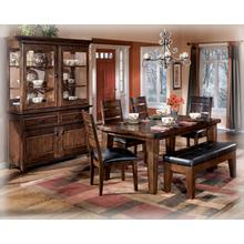 View Product - Rectangular Dining Room Table with six side chairs