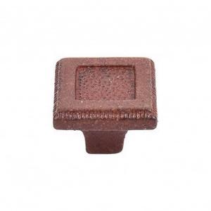 Square Inset Knob 1 5/16 Inch - True Rust